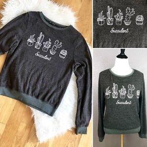 NWOT Wildfox succulent sweatshirt